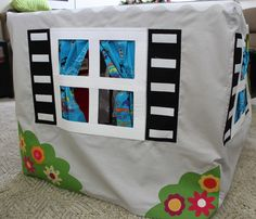kids over the table playhouse
