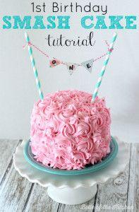 1st Birthday Smash Cake Tutorial + Simple Vanilla Cake recipe