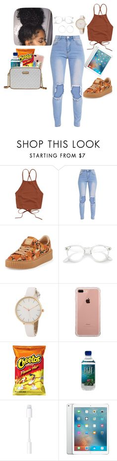 """#1"" by jaliyahredd116 on Polyvore featuring Puma, Belkin and Michael Kors"