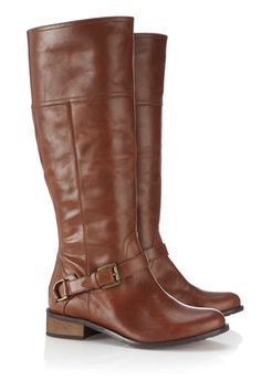 Tan Leather Riding Boot #wallisfavourites