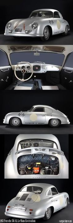 Baby pink Bug Cadillac Such and odd video and song. Iggy Pop - In The Death Car 1953 Porsche 356 SL Le Mans Recreation Le Mans, Vw Vintage, Vintage Porsche, Porsche Classic, Porsche Panamera, Classic Sports Cars, Classic Cars, Sport Cars, Race Cars