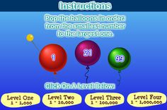 Balloon Pop Math - Order Numbers To 1000 Fun Math Games, Integers, Place Values, The Balloon, Numbers, Balloons, Pop, Learning, Globes