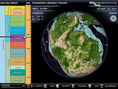 EarthViewer, a free, interactive app designed for the iPad, that lets users explore the Earth's history with the touch of a finger by scrolling through 4.5 billion years of geological evolution.