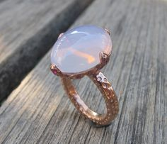 Amethyst Rings- Pink Quartz Ring- Rose Gold Silver Rings-Gemstone Rings- Pink Stone Rings- Ruby Rings- July Birthstone Rings-Cocktail Ring on Etsy, $238.99