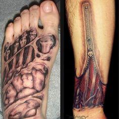 Gruselige, eklige und angsteinflößende Tattoos: A trippy version of ...