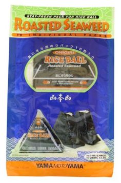 Yamamotoyama Onigiri Rice Ball Seaweed Wrappers, 0.44-Ounce Bags (Pack of 4) by Yamamotoyama, http://www.amazon.com/dp/B003XUE92Y/ref=cm_sw_r_pi_dp_cOIVqb0D4MAY7