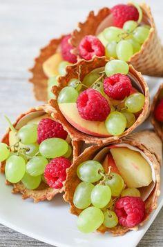 Fruit Cornucopias. Perfect for a party!