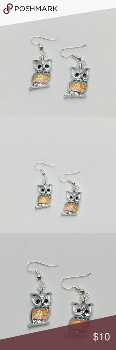 🎀 4 for $20 Owl Earrings Super cute dangling owl earrings. They are made out of alloy and enamel. It is brand new, please ask questions!  It is part of my 4 for $20 deal, look for other items with a 🎀 to get the deal. Jewelry Earrings
