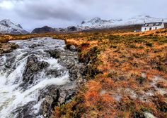 Allt Dearg Cottage, in the Shadow of the Black Cuillin. Isle of Skye, Scotland.