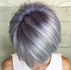 Silver Ombre Hair Looks For Ladies Who Prefer Cooler Tones ★ Pelo Color Ceniza, Pelo Color Gris, Silver Ombre Hair, Silver Lavender Hair, Violet Hair, Cool Hair Color, Grey Hair Colors, Hair Care Tips, Great Hair
