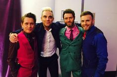 Robbie Williams will reunite with Gary Barlow, Mark Owen and Howard Donald at the Let It Shine final on February 25 to perform a Take That classic. Robbie Williams, Howard Donald, Matthew Vaughn, Mark Owen, Gary Barlow, Kingsman, Celebs, Celebrities, David Beckham