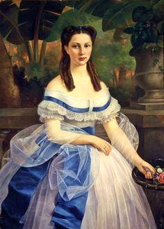 """""""Leonor Rivas Mercado de Torres Adalid' by Mexican Painter Juan Cordero. 1860. Oil on Canvas."""