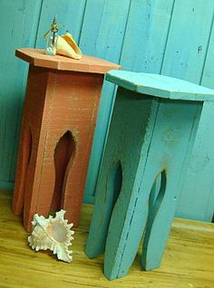 Side Table Plant Stand Moroccan Turkish Beach Shabby Chic Style on Etsy, $65.00