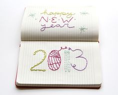 one sheepish girl: Happy New Year! 2013 Journal Embroidery