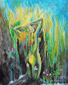 Spring Showers-spring Cleaning Painting by Colleen Koziara