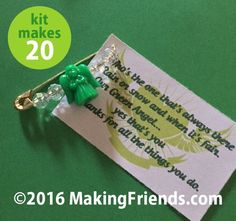 """Girl Scout Swaps Craft Kit """"Green Angel Thanks You"""""""