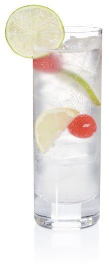 Cherry Vodka Sour (1 tbsp Grenadine 1 part Sweet and Sour mix 1 part Vodka)!