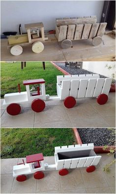 Here we have listed the unique looking wooden pallet tractor creation for you. We are sure that placing. Wooden Pallet Crafts, Wooden Pallet Furniture, Diy Pallet Projects, Wooden Pallets, Diy Wood Projects, Woodworking Projects, Pallet Ideas, Pallet Wood, Woodworking Patterns