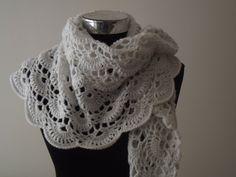 Wedding Bridal Crochet White Handmade Women Chic With by nilsmake, $48.00