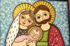 Sagrada família – by Nice Nyá Religious Images, Religious Art, Christmas Nativity, Christmas Art, Holy Mary, Christmas Drawing, Madonna And Child, Catholic Art, Holy Family