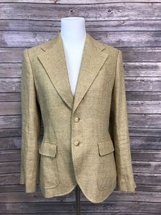 Evan Picone Costa Brava Green Herringbone Long Sleeves Pant Suit 2pc Set NEW