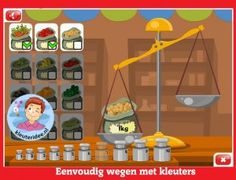 Wegen met kleuters op digibord of computer, kleuteridee, Kindergarten math for IBW or computer School Computers, I Love School, Fun Learning, Kindergarten, Preschool, App, Teaching, Fruit, Underwear