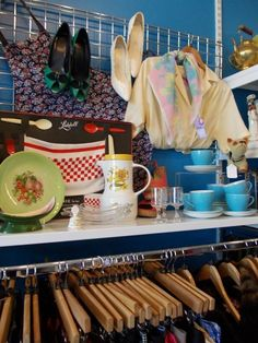 mixing homewares with clothing shop display