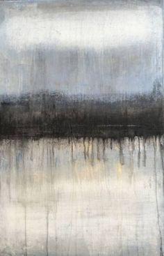 "Saatchi Art Artist Roger König; Painting, ""1075 abstract antique white/black/blue"" #art"