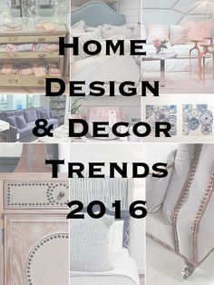 Five trends that will be making appearances in the 2016 home design and decor market, as found at the AmericasMart Int'l Home Furnishings & Gifts Market.