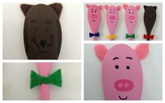 Craft Story Telling with Wooden Spoon Puppets Wooden Spoon Crafts, Wooden Spoons, Crafts To Make, Crafts For Kids, Arts And Crafts, Indoor Activities For Kids, Craft Activities, Contemporary Toys, Traditional Stories