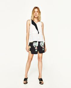 ZARA - SALE - ZWEIFARBIGES TOP