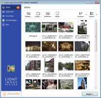 """Screenshot 1 - Light Image Resizer-Mit der Gratis-Software """"Light Image Resizer"""" passen Sie Größe und Format Ihrer Digitalfotos an. Einzelne Schnappschüsse oder alle Bilder ausgewählter Verzeichnisse werden per Klick mit Werten für eine neue Höhe und Breite versehen. Hierfür geben Sie die Maße entweder manuell ein oder nutzen Profile, etwa für iPod, iPhone oder PSP. Zudem können Sie Grafik- und Text-Wasserzeichen hinzufügen, Ihren Aufnahmen Rahmen verpassen und Effekte wie """"Sepia"""" oder…"""