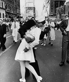 The famous V-J kiss. Yup, it happened right here and we love to brag about it.