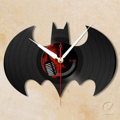 vinyl batman wall clock!