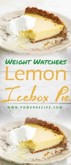 Ingredients 1 roll oz) Pillsbury™ refrigerated sugar egg cans oz each) sweetened condensed milk (not cup lemon container oz) frozen whipped topping,… Weight Watchers Pie, Weight Watchers Puddings, Weigt Watchers, Weight Watchers Desserts, Weight Watchers Lemon Pie Recipe, Lemon Dessert Recipes, Ww Desserts, Lemon Recipes, Ww Recipes