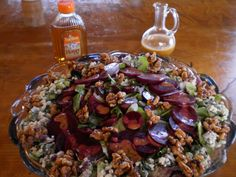 Spicy Sweet Beet and Blue Salad