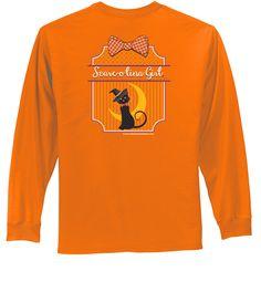 2014 Long Sleeve Scare O Lina Preppy Cat