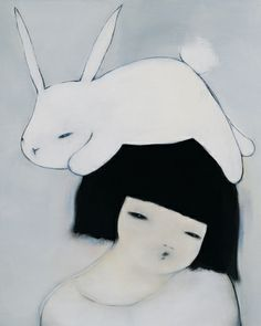 Beautiful work by Hanna Kim, from her portfolio at Arario Gallery. Bunny