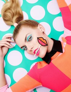 pop art make-up - call THE APOTHECARY to get this done day of the party!