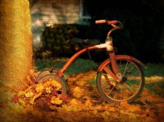 Vintage Tricycle Photograph Americana Art by AmericanaArtByEllis, $25.00