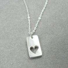 True Love's Heart sterling silver love charm by asilomarworks, $25.00