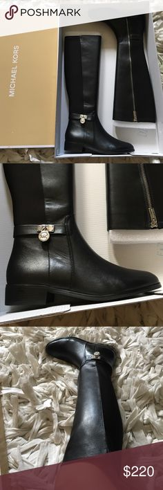 ✨NEW✨Michael Kors Boots ✨NEW✨Michael Kors Boots perfect gift for this Christmas  Hamilton Tall Boots Real Leather size 6 For Women Michael Kors Shoes Winter & Rain Boots