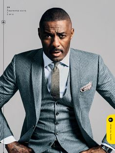 Fantastic! I always think of Prometheus when I see Idris Elba.  GREAT shot of him in this suit from Gucci.