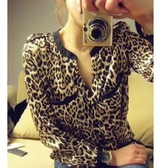 Aliexpress.com : Buy 2013 Spring And Autumn Women's Silk Floss V Neck Leopard Print Loose Plus Size Chiffon Cotton Blend Long Sleeve Shirt 131R from Reliable hip hop shirts suppliers on IDEAL Choice International Limited. $14.98
