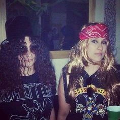 Slash and Axl Rose@shan