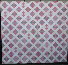 Antique Four Patch on Point Diamond Quilt 1800's Low Bin   eBay