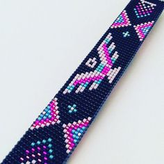 Items similar to Thunderbird Beaded Cuff on Etsy Loom Bracelet Patterns, Bead Loom Bracelets, Bead Loom Patterns, Native Beading Patterns, Beaded Jewelry Patterns, Native Beadwork, Beaded Hat Bands, Bead Loom Designs, Tear
