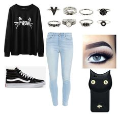 """""""Untitled #17"""" by kakamm on Polyvore featuring Paige Denim, Vans and Valfré"""