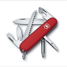 1.4613 Victorinox Swiss Army Pocket Knife HIKER RED 14613 BRAND NEW IN BOX !!!   Swiss army knives ...