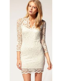 I usually hate lace but the neckline is lovely!